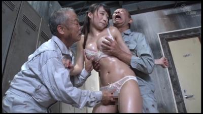【蓮実クレア】老働者に輪姦され性奴隷と化す巨乳未亡人 蓮実クレア