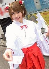 【あかり 20歳 巫女カフェのバイト】コスプレカフェナンパ 39