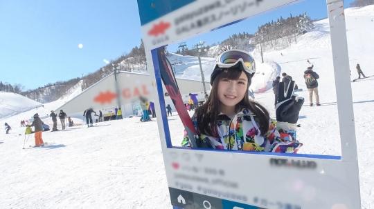 【もえ 21歳 歯科衛生の専門学生】ゲレンデナンパ 01 雪山ではド素人!布団の上ではテクニシャン!スティック握るよりもチ〇ポ握るのが得意なスケベ美少女!!_2