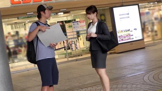 【のあ 23歳 不動産の営業】マジ軟派、初撮。 1500 新宿で美脚OLをナンパ成功!一度流されればすぐに感じ始めてうっとり顔♪巨乳&美脚を惜しみなく晒しイき乱れる!