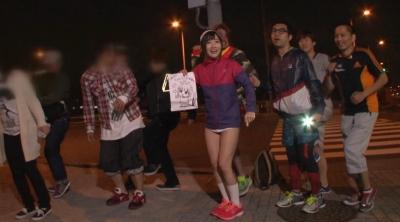 やんひびが走るってよ AV女優はフルマラソン(42.195km)走り終わった後、何回騎乗位出来るのか検証!! 大槻ひびき_13